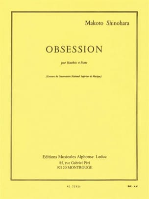 Obsession Makoto Shinohara Partition Hautbois - laflutedepan