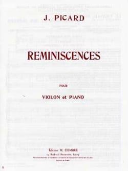 Reminiscences Jacques Picard Partition Violon - laflutedepan