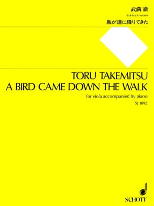 A Bird came down the walk TAKEMITSU Partition Alto - laflutedepan