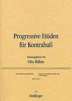 Progressive Etüden für Kontrabass, Heft 2 Otto Rühm laflutedepan