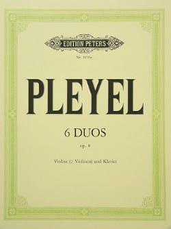 6 Duos op. 8 -2 Violinen Violine Klavier Ignaz Pleyel laflutedepan