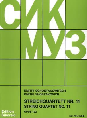 Streichquartett Nr. 11 op. 122 - Stimmen CHOSTAKOVITCH laflutedepan