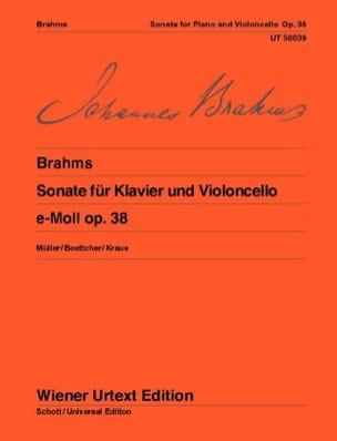 Sonate en mi mineur op. 38 BRAHMS Partition Violoncelle - laflutedepan