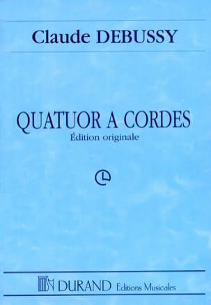 Quatuor à Cordes DEBUSSY Partition Grand format - laflutedepan