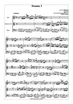 Sonate n° 1 opus 5 HAENDEL Partition Trios - laflutedepan