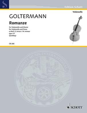 Romance, op. 17 - Violoncelle et piano Georg Goltermann laflutedepan