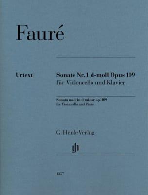 Sonate n° 1, opus 109 FAURÉ Partition Violoncelle - laflutedepan