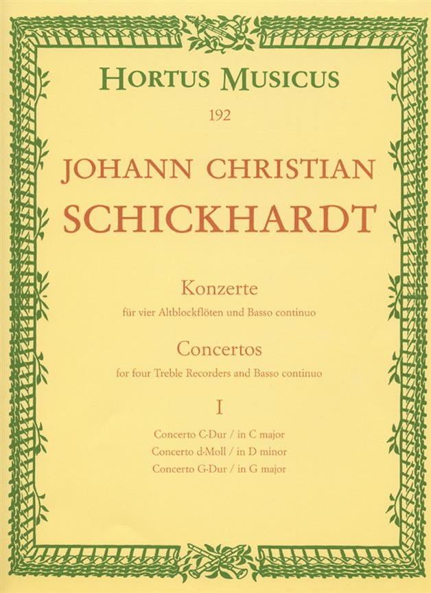 6 Konzerte - Bd. 1 : n° 1-3 - 4 Altblockflöten und BC - laflutedepan.com