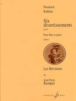 6 Divertissements Op. 68 Vol. 2 Friedrich Kuhlau laflutedepan