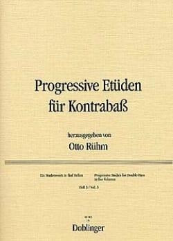Progressive Etüden für Kontrabass, Heft 3 Otto Rühm laflutedepan