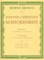 6 Konzerte - Bd. 2 : n° 4-6 - 4 Altblockflöten u. BC laflutedepan