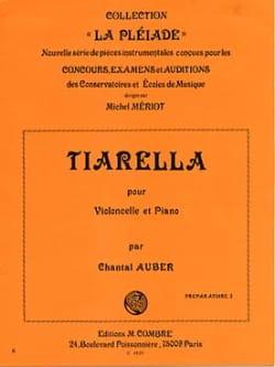 Tiarella Chantal Auber Partition Violoncelle - laflutedepan