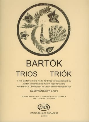 Trios from Choral Works BARTOK Partition Violon - laflutedepan