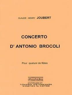 Concerto d'Antonio Brocoli Claude-Henry Joubert Partition laflutedepan
