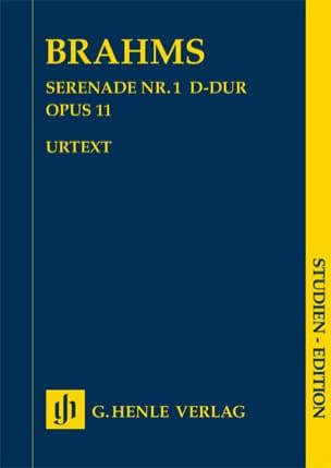 Sérénade n° 1 en Ré majeur opus 11 BRAHMS Partition laflutedepan