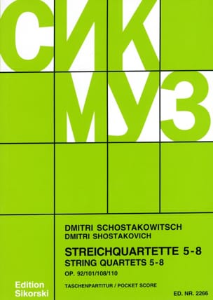 Streichquartette Nr. 5-8 CHOSTAKOVITCH Partition laflutedepan