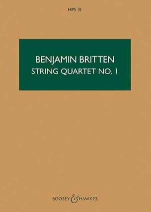 String quartet n° 1 op. 25 - Score BRITTEN Partition laflutedepan