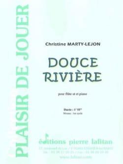 Douce Rivière Christine Marty-Lejon Partition laflutedepan