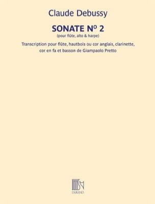 Sonate n° 2 DEBUSSY Partition Quintettes - laflutedepan