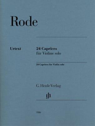 24 Caprices Pierre Rode Partition Violon - laflutedepan