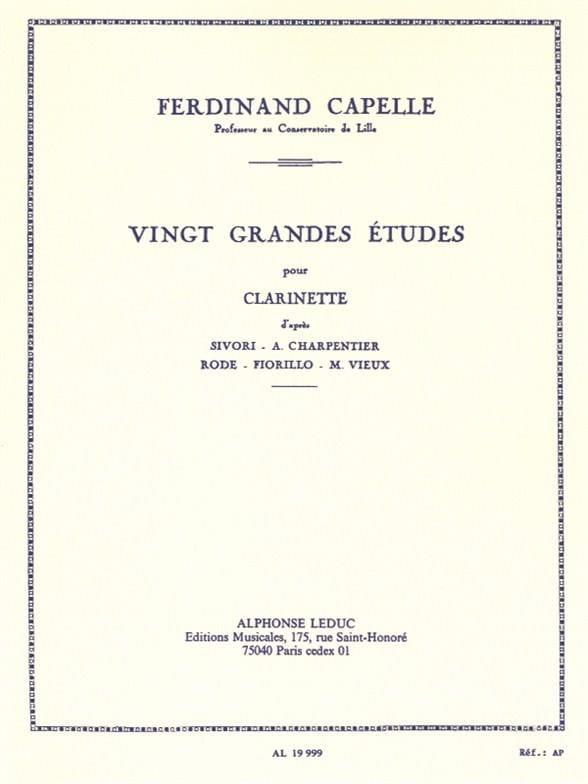 20 Grandes études - Ferdinand Capelle - Partition - laflutedepan.com