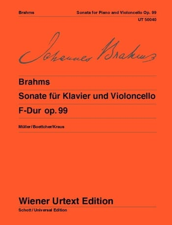 Sonate F-Dur, op. 99 - BRAHMS - Partition - laflutedepan.com