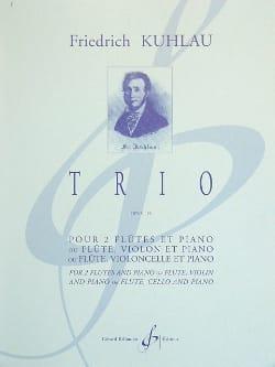 Trio Op. 119 - 2 Flûtes-Piano Friedrich Kuhlau Partition laflutedepan