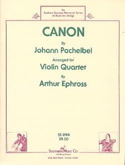 Canon - 4 Violons PACHELBEL Partition Violon - laflutedepan