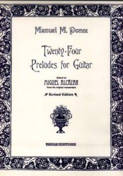 24 Préludes pour guitare Manuel Maria Ponce Partition laflutedepan