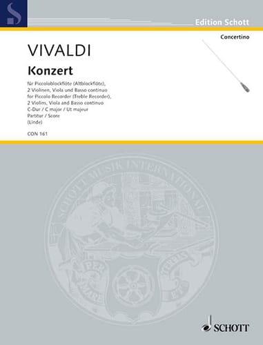 Concerto in C-Dur für Piccoloblockflöte RV 443 - Partitur - laflutedepan.com