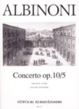 Concerto op. 10/5 - ALBINONI - Partition - Violon - laflutedepan.com