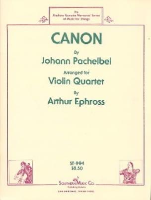 Canon - 4 Violons - PACHELBEL - Partition - Violon - laflutedepan.com