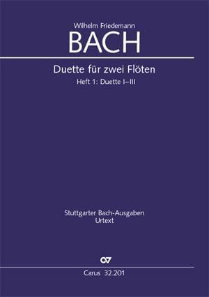 Duos pour Flutes Volume 1 - Wilhelm Friedemann Bach - laflutedepan.com