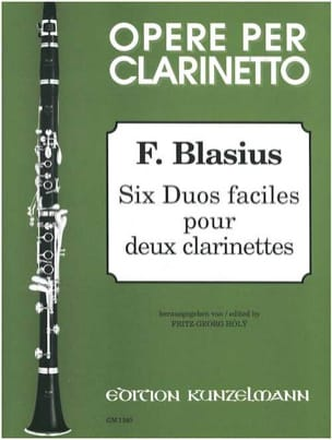 6 Duos faciles pour 2 clarinettes - laflutedepan.com