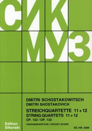 Streichquartette Nr. 11+12 - Partitur CHOSTAKOVITCH laflutedepan