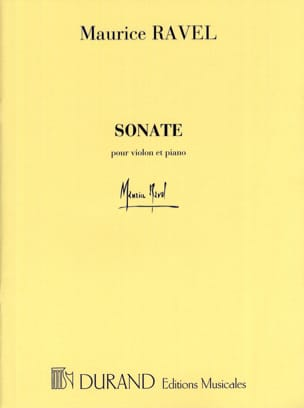 Sonate - Violon et piano - RAVEL - Partition - laflutedepan.com