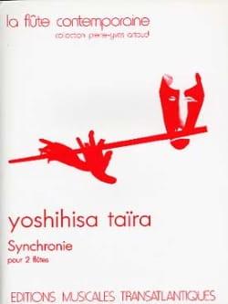 Synchronie - 2 Flûtes Yoshihisa Taïra Partition laflutedepan
