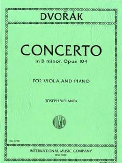 Concerto in B minor, op. 104 DVORAK Partition Alto - laflutedepan