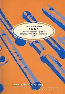 Ende 1981 Louis Andriessen Partition Flûte à bec - laflutedepan