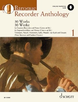 Baroque Recorder Anthology Volume 1 Partition laflutedepan