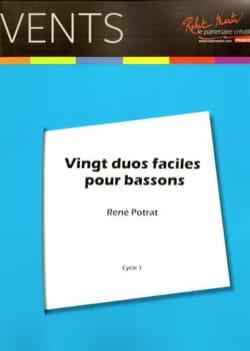 20 Duos faciles pour Bassons René Potrat Partition laflutedepan