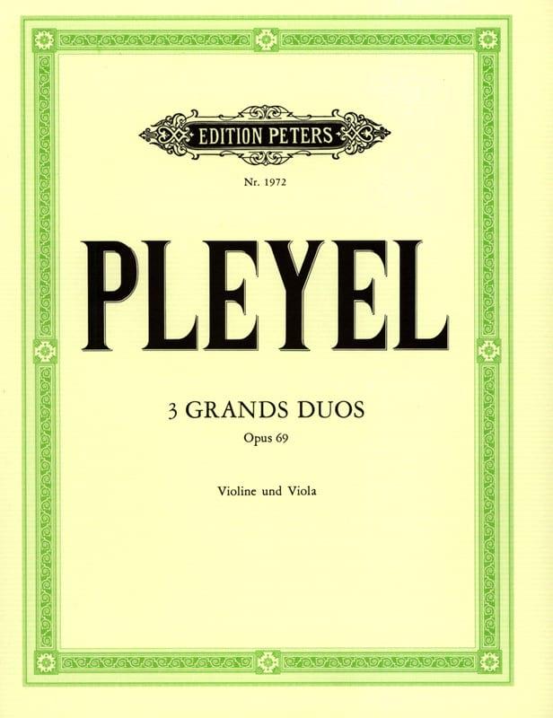3 Grands duos op. 69 - Ignaz Pleyel - Partition - 0 - laflutedepan.com
