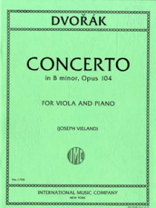 Concerto in B minor, op. 104 - DVORAK - Partition - laflutedepan.com