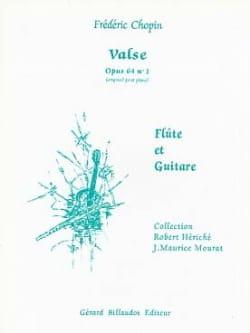 Valse op. 64 n° 1 - Flûte et guitare CHOPIN Partition laflutedepan