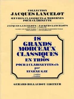 18 Grands morceaux classiques - 2 - Trio clarinettes laflutedepan