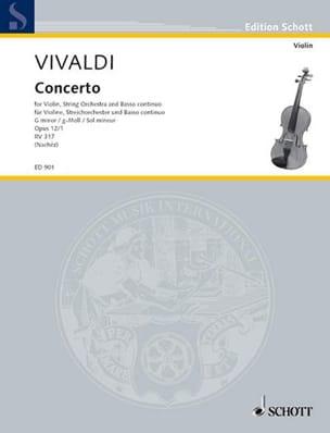 Concerto Violon sol mineur op. 12 n° 1 VIVALDI Partition laflutedepan