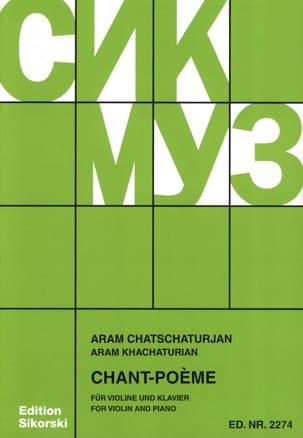 Chant-Poème KHATCHATURIAN Partition Violon - laflutedepan