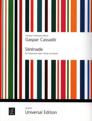 Sérénade Gaspar Cassado Partition Violoncelle - laflutedepan