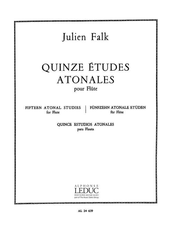 15 Etudes atonales - Flûte - Julien Falk - laflutedepan.com