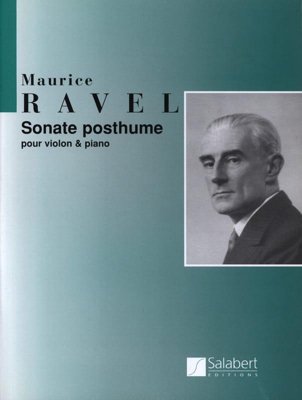 Sonate posthume - RAVEL - Partition - Violon - laflutedepan.com
